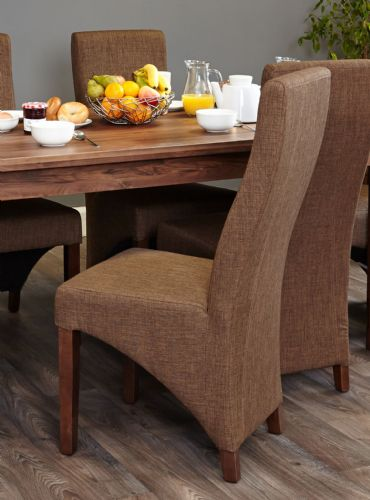 Pair of Full Back Upholstered Dining Chairs